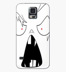 angry face  Case/Skin for Samsung Galaxy