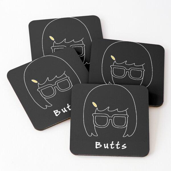 Bob's Burgers Tina - Butts Coasters (Set of 4)