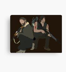 Daryl Dixon and Rick Grimes - The Walking Dead Canvas Print