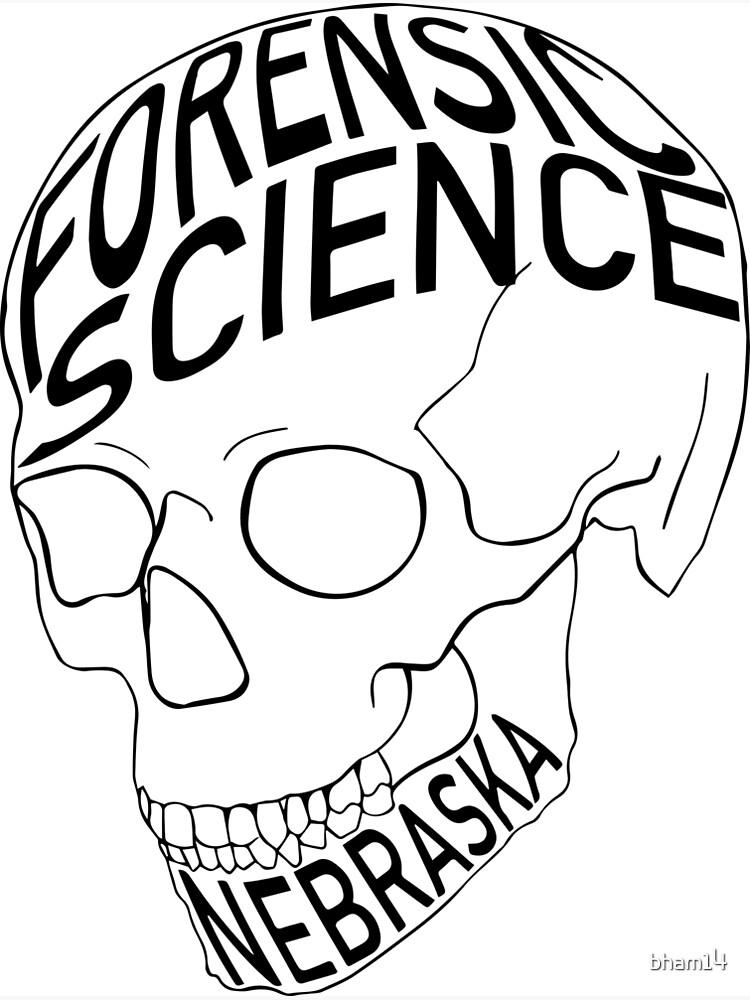 Forensic Science Skull Nebraska Large Greeting Card By Bham14 Redbubble