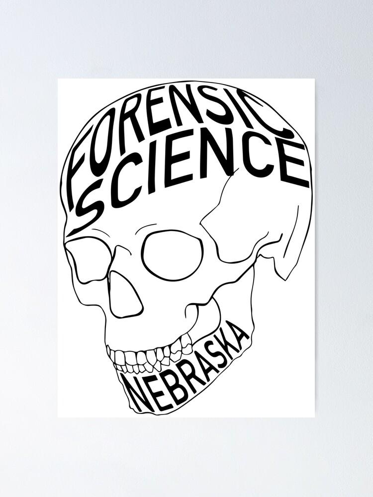 Forensic Science Skull Nebraska Large Poster By Bham14 Redbubble