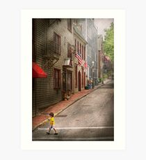 City - Rhode Island - Newport - Journey  Art Print