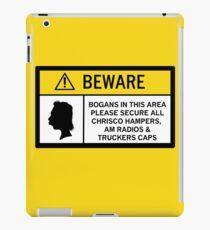 Caution - Bogans iPad Case/Skin