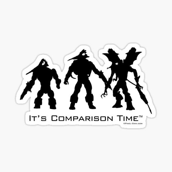 """""""It's Comparison Time"""" - Mosquito (Black Design) Sticker"""