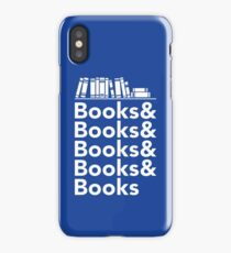 Books | Literary Book Nerd Helvetica Typography iPhone Case/Skin