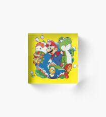 Super Mario World - Around the World Acrylic Block