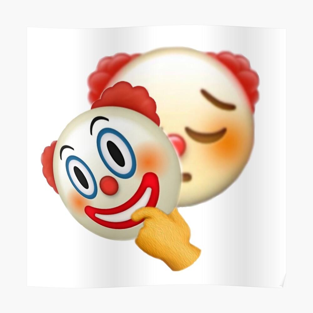 Sad Clown Mask Emoji Sticker By Lbfest Redbubble