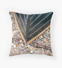 Fibre-glass clinker boat Throw Pillow