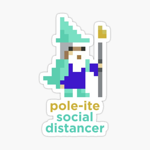Pole-ite Social Distancing Sticker