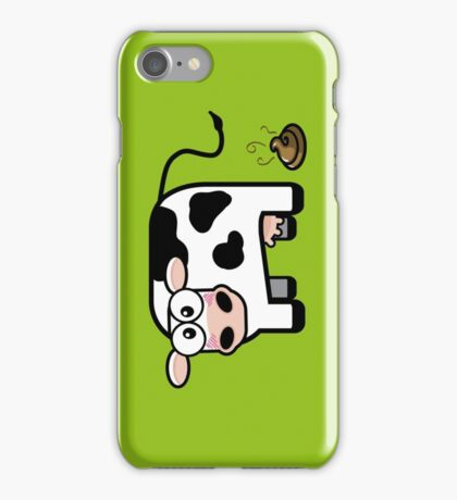 Funny Pooping Cow iPhone Case/Skin