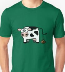 Funny Pooping Cow Unisex T-Shirt