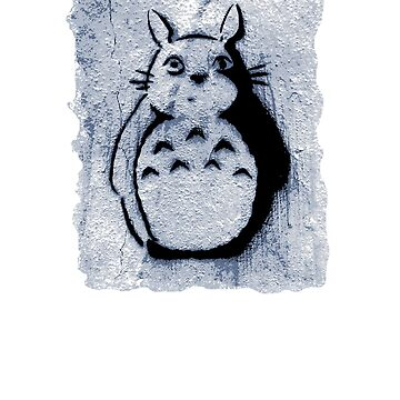 Street Art Stencil - Totoro by davidicon