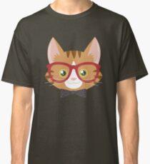 Camiseta clásica Naranja Tabby Hipster Cat