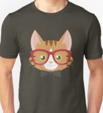 Orange Tabby Hipster Cat Unisex T-Shirt