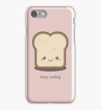 Keep Smiling Kawaii Slice of Bread iPhone Case/Skin