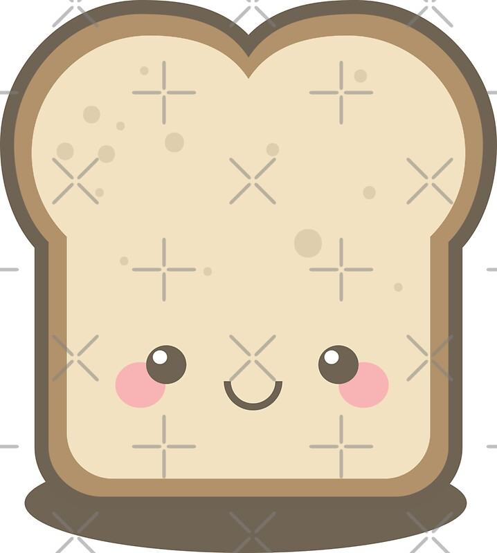 Keep Smiling Kawaii Slice of Bread