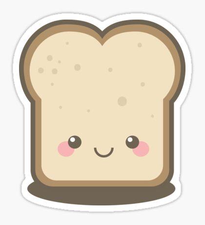 Keep Smiling Kawaii Slice of Bread Sticker