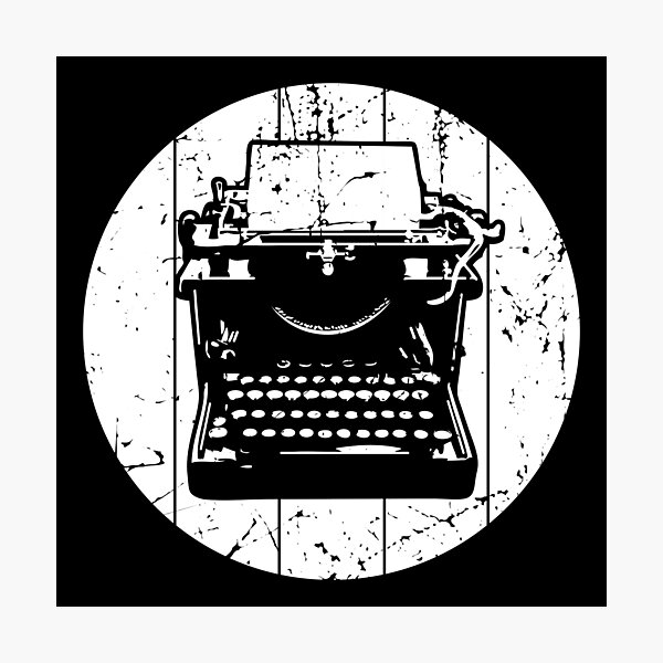 Vintage Typewriter Photographic Print