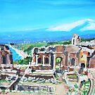 The Greek Theater in Taormina  by Teresa Dominici