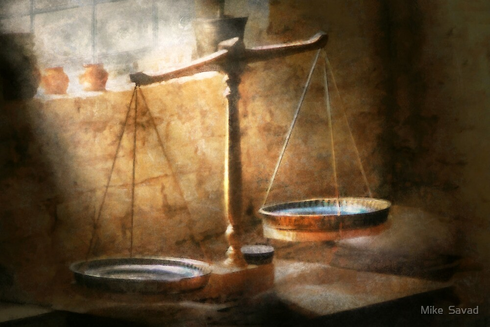 Lawyer - Scale - Balanced law by Michael Savad