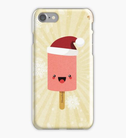 Festive Strawberry Ice Lolly iPhone Case/Skin