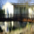Chippenham - reflections in the river #2 by Graham Hiscock