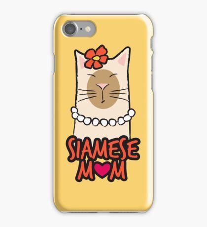 Siamese Cat Mom iPhone Case/Skin