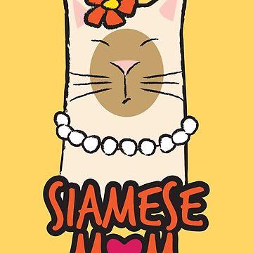 Siamese Cat Mom by LisaMarieArt