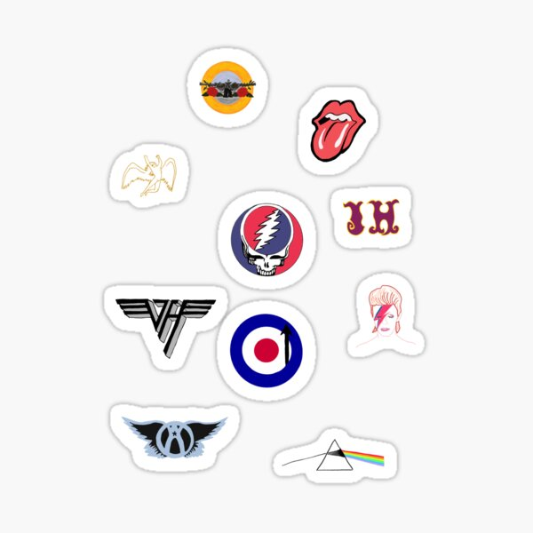Pack d'autocollants rock classique Sticker