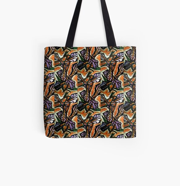 Orchid All Over Print Tote Bag