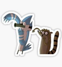 Mordecai and Rigby OOOOOHHHH stuff Sticker