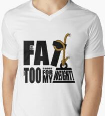 I'm Not Fat I'm Just Short for My Weight! Men's V-Neck T-Shirt