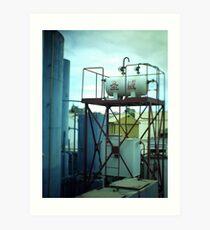 Fuel Container - Tilt shift photo Art Print
