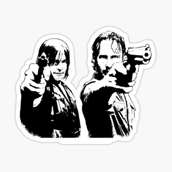 Rick & Daryl Sticker