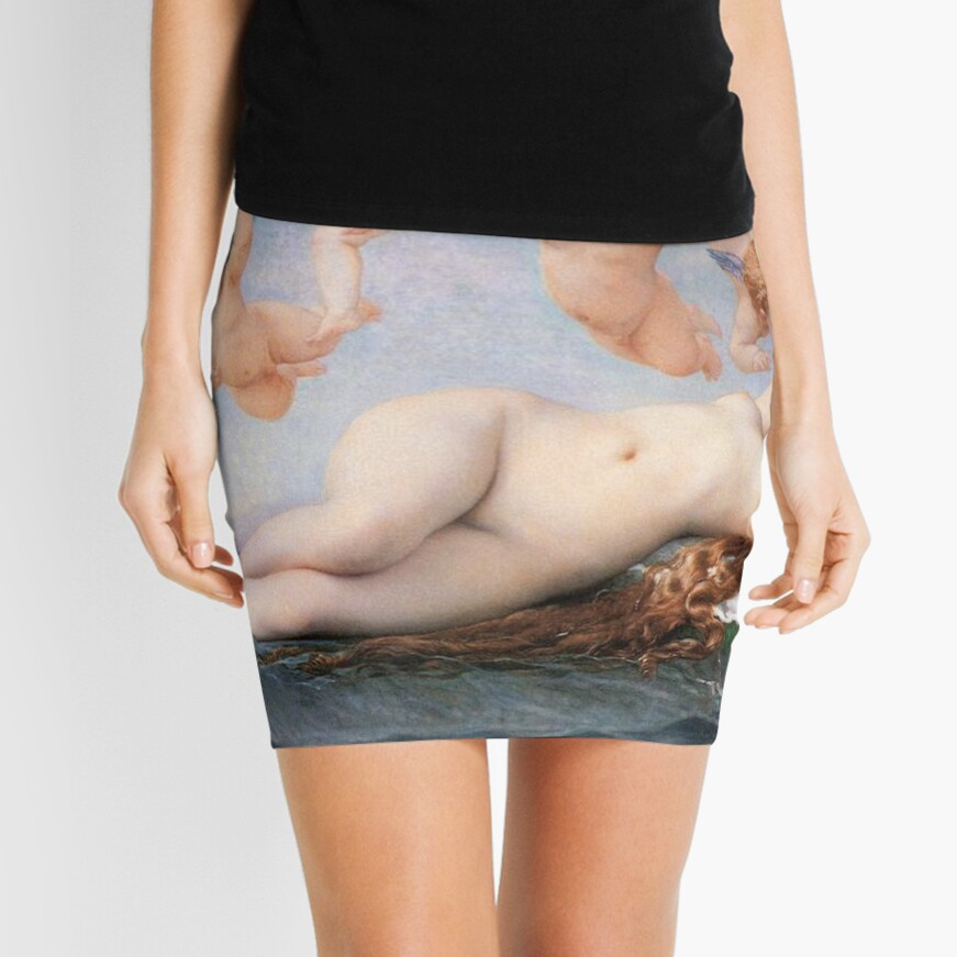 The #Birth of #Venus, Alexandre Cabanel 1875 #TheBirthofVenus #BirthofVenus Mini Skirt