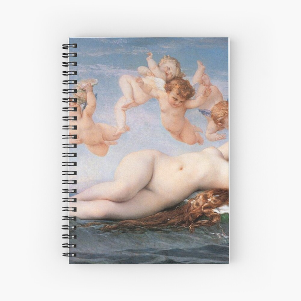 The #Birth of #Venus, Alexandre Cabanel 1875 #TheBirthofVenus #BirthofVenus Spiral Notebook