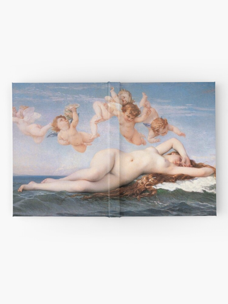 Alternate view of The #Birth of #Venus, Alexandre Cabanel 1875 #TheBirthofVenus #BirthofVenus Hardcover Journal