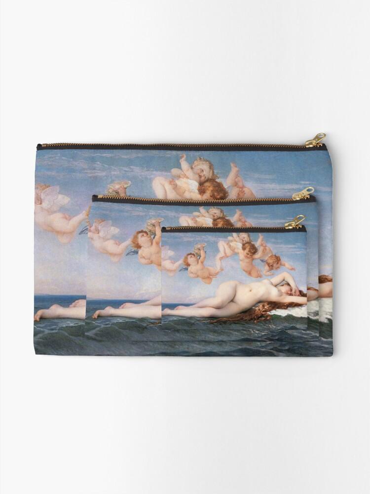 Alternate view of The #Birth of #Venus, Alexandre Cabanel 1875 #TheBirthofVenus #BirthofVenus Zipper Pouch