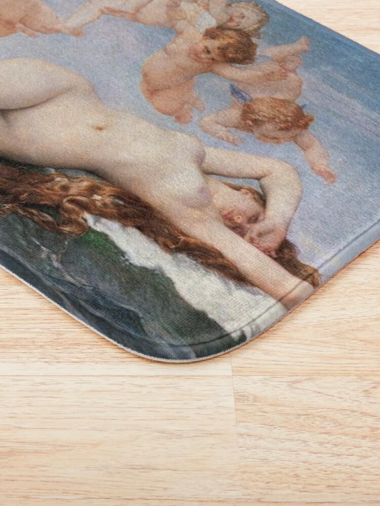 Alternate view of The #Birth of #Venus, Alexandre Cabanel 1875 #TheBirthofVenus #BirthofVenus Bath Mat