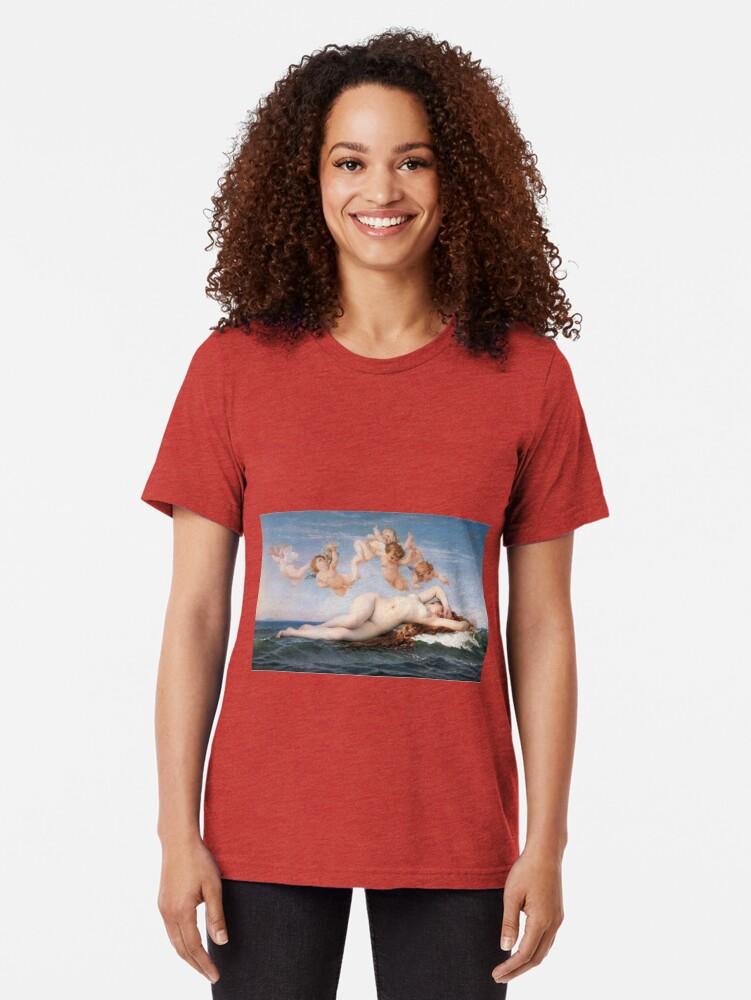 Alternate view of The #Birth of #Venus, Alexandre Cabanel 1875 #TheBirthofVenus #BirthofVenus Tri-blend T-Shirt