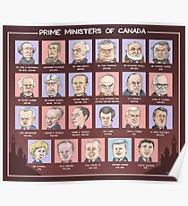 Canada's Prime Ministers (updated for 2015-2019) Poster