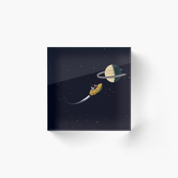 Approaching Saturn Acrylic Block