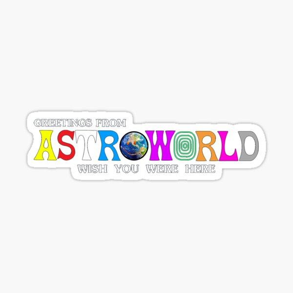 Astroworld - wish you were here Sticker