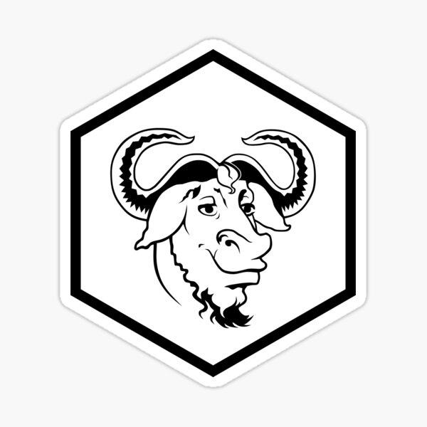 R GNU hex  Sticker