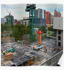 Construction Site, Adelaide Poster