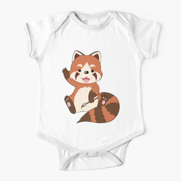 Doodle the Red Panda Short Sleeve Baby One-Piece