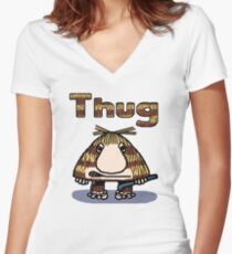 Thug Women's Fitted V-Neck T-Shirt