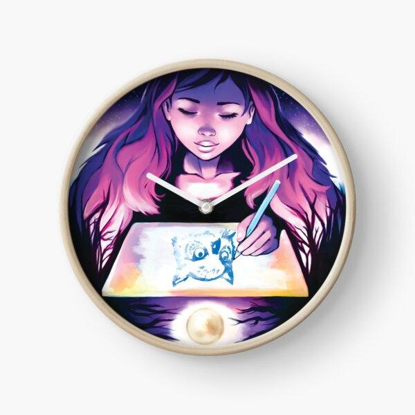 Nocturnal Artist Clock