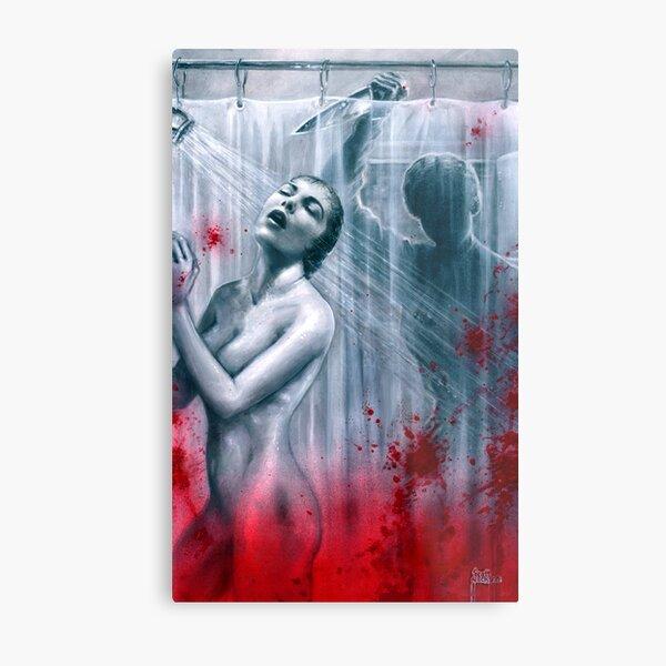 Shower Slasher Metal Print