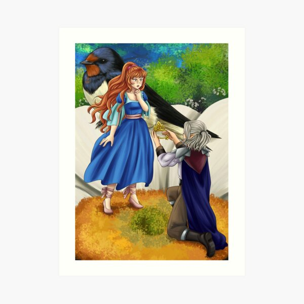 Thumbelina and the Flower Prince Art Print